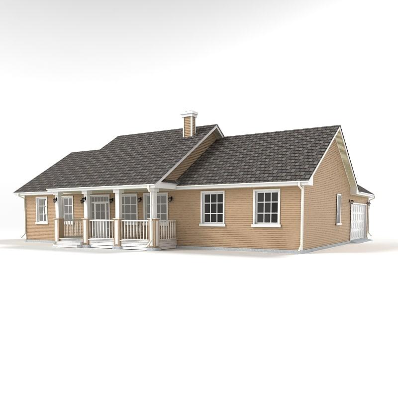 3d model cottage 05