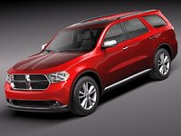 3d model dodge durango suv 2011