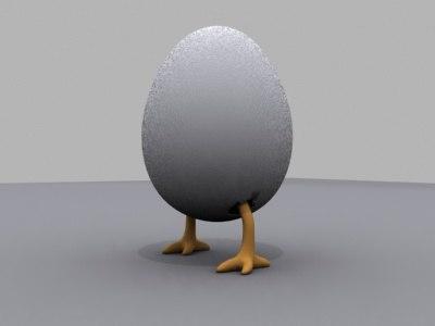 egg animals 3d obj