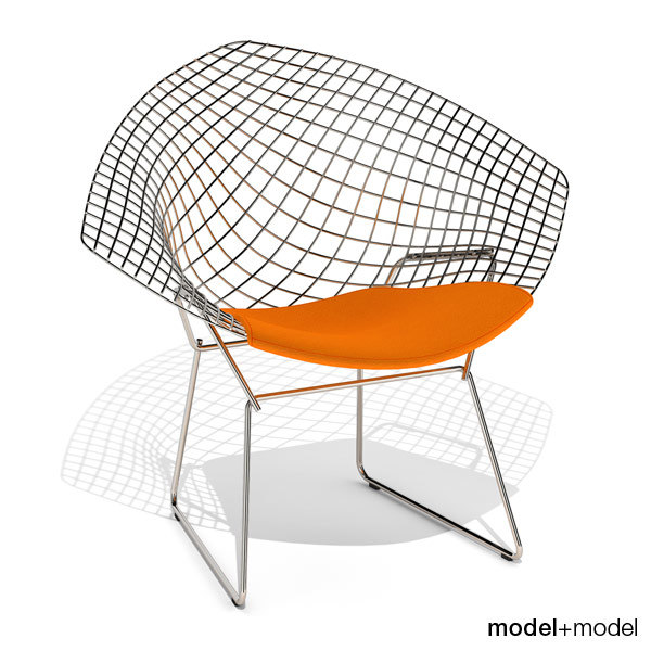 3d bertoia diamond chair knoll model. Black Bedroom Furniture Sets. Home Design Ideas