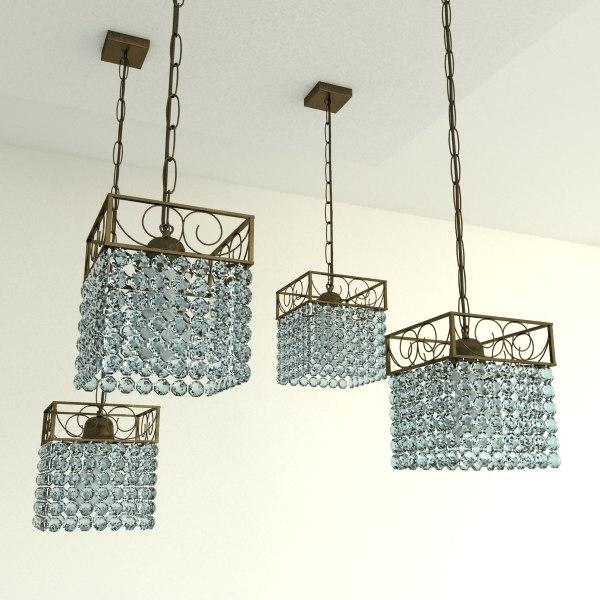 Glass Chandelier Beads: oriental chandelier glass beads 3d max,Lighting