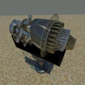 3d jet engine model