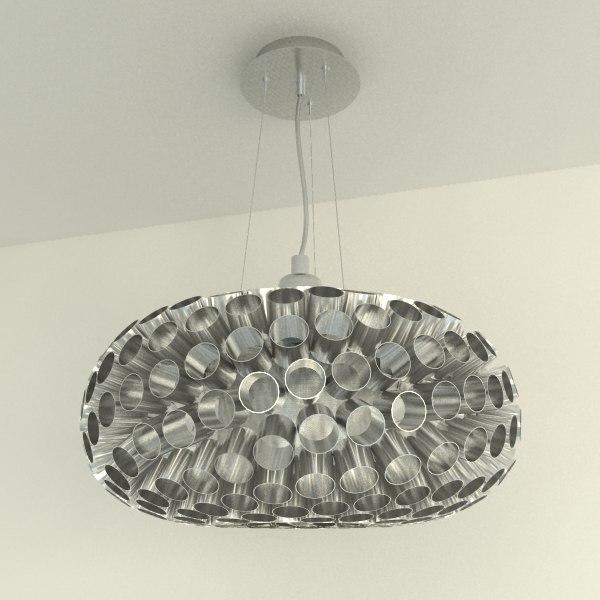 modern chandelier pipe lighting lamp 3d max