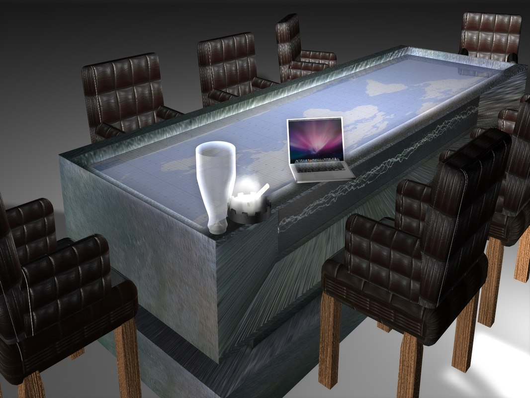 c4d war table chairs