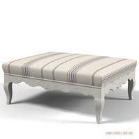 ralph lauren antibes primatiff cocktail ottoman bench seat pouf banquette classic traditional  provence