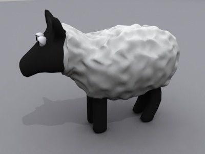 sheep animals 3ds