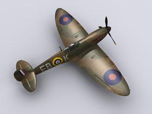 3d model supermarine spitfire fighter 41