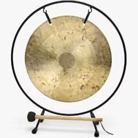 3d model gong v-ray clipart