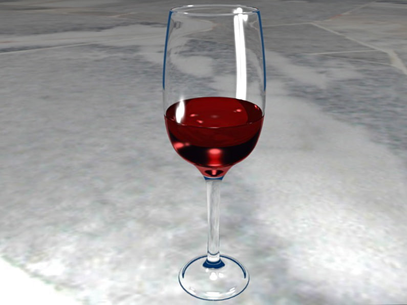 free wine glass 3d model
