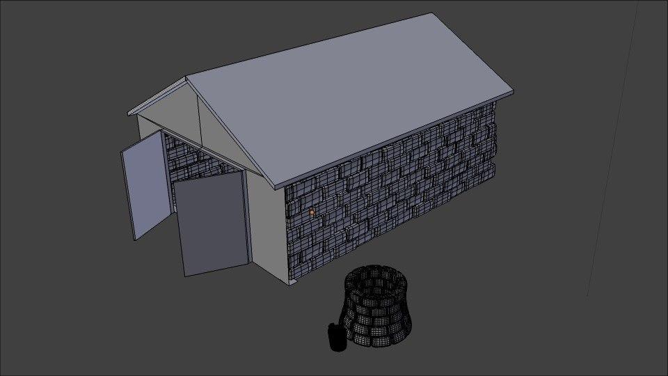 warehouse house 3d 3ds