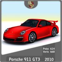 2010 porsche 911 gt3 3d 3ds
