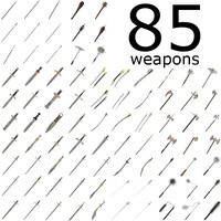 melee weapons - 85 models