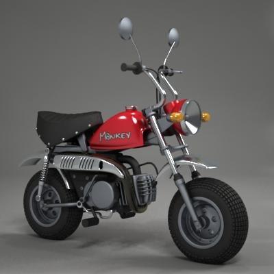 3d skyteam monkey bike model