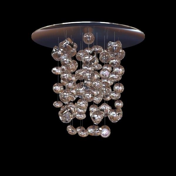 3d model muranodue chandelier modern
