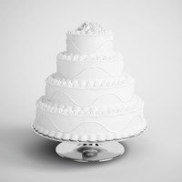 CGAxis 3D Model Tiered Wedding Cake 16