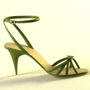 3ds max heel shoe