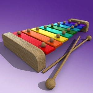 xylophone toy 3d model