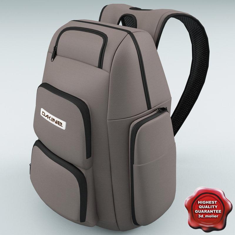 3d model backpack dakine