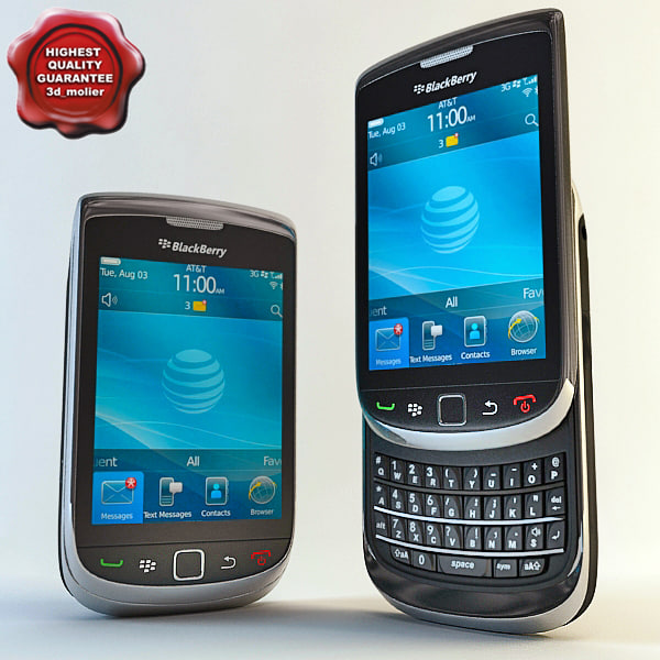 blackberry torch 9800 3d 3ds