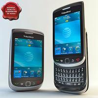 blackberry torch 9800 3d 3ds
