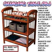 3d model of changingtable changing table