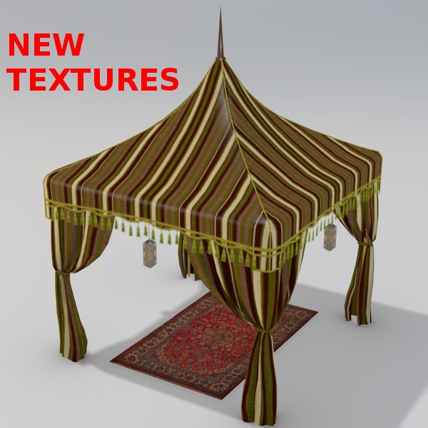 3d model arabian luxury tent