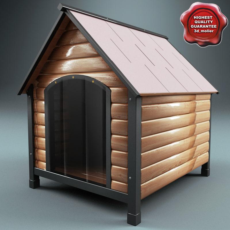dog kennel 3d model