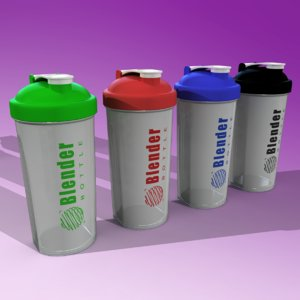 3ds max blender bottle