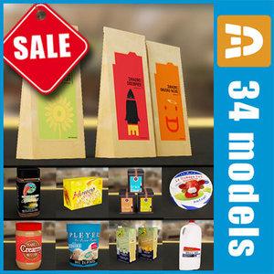 groceries food package packs 3ds