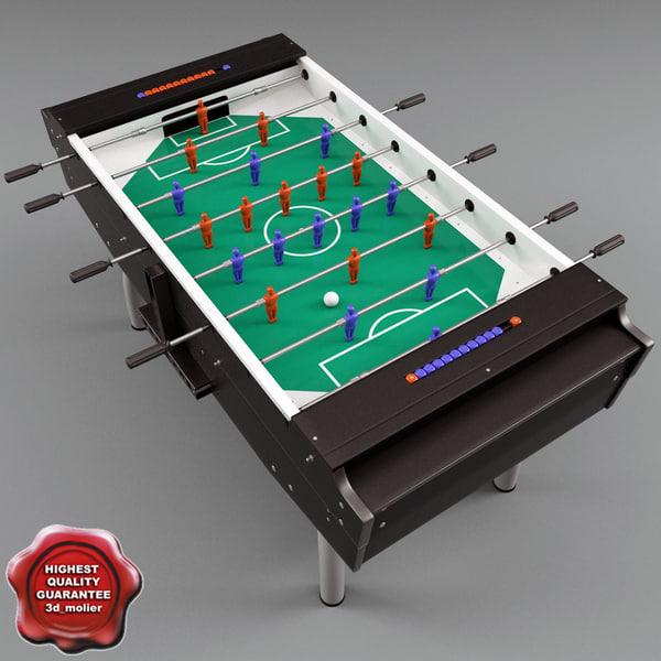 fussball table c4d