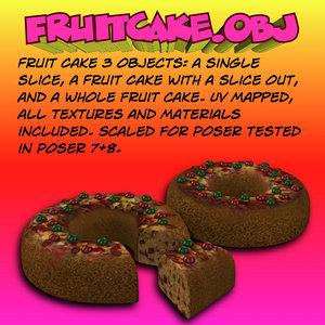 fruitcake fruit cake 3d obj