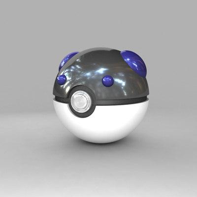 3d pokemon ball model