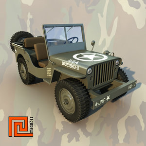 3d jeep willys model