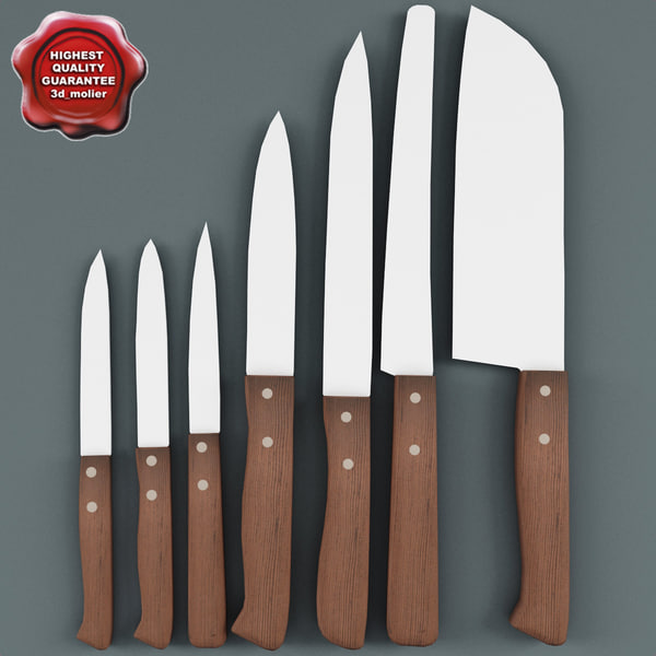 kitchen knives v1 c4d