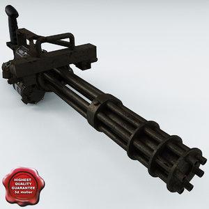3d model minigun m134