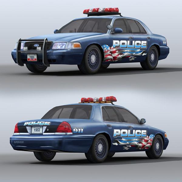3d car police supervisor