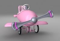 pedal plane toy 3d obj