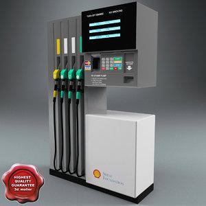 petrol pump 3d max
