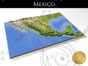 mexico resolution relief maps 3d model