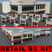 B1 KIT - Retail Building Kit - 3ds max 2010 Mental Ray