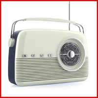 3d model retro radio portable bush