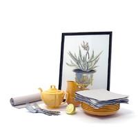 Saffron tableware