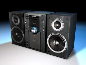 maya sharp shelf stereo