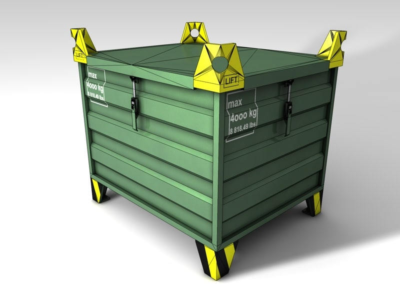 c4d transport box pallet including