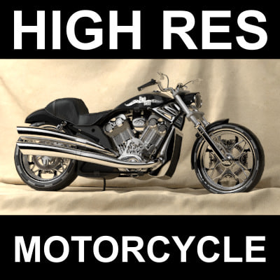 motorcycle custom designed 3d model