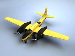 a-26 invader bomber dragon obj
