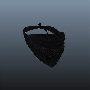 black bandana 3d ma