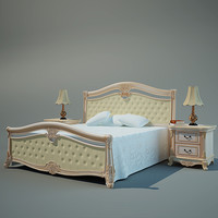 Classic Bed and Nightstands
