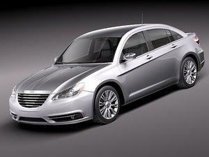 3d model of chrysler 200 sedan 2011