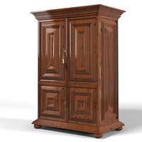 quadrius studio L-XIV 5103 classic traditional wardrobe armoire dresser cabinet antique aged